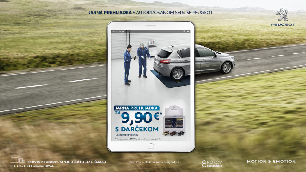 Jarná prehliadka Peugeot